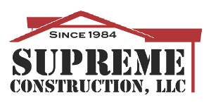 A company logo for Supreme Construction.